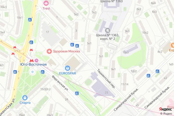 Ремонт телевизоров Ташкентский переулок на яндекс карте