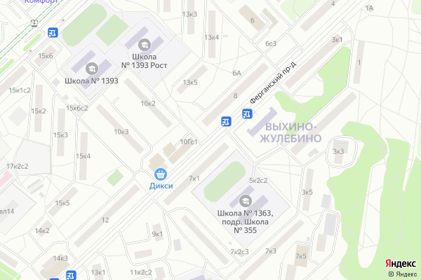Ремонт телевизоров Ферганский проезд на яндекс карте
