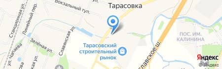 Автомойка на Большой Тарасовской на карте Тарасовки