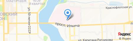 ДОКТМО на карте Донецка
