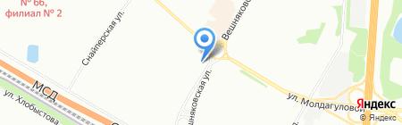Банк ВТБ 24 на карте Москвы