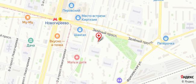 Карта расположения пункта доставки Москва Зеленый в городе Москва