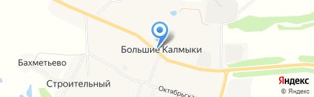 Магазин бытовой химии и посуды на карте Больших Калмыков