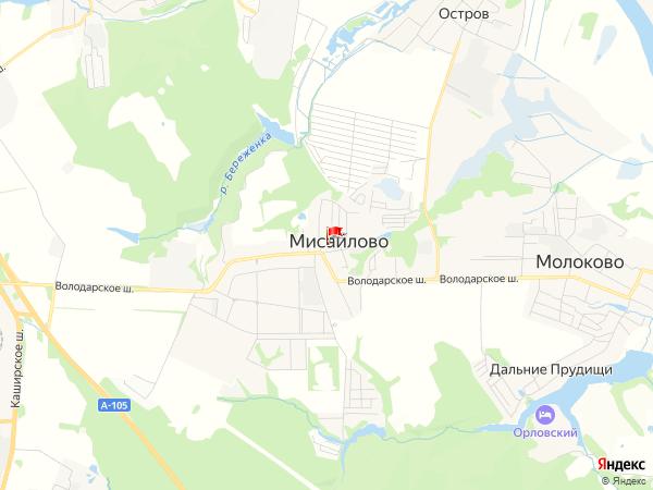 Карта населенный пункт Мисайлово