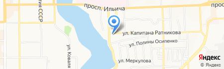 Маресто на карте Донецка