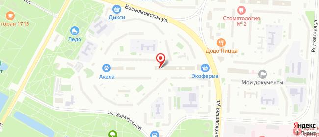Карта расположения пункта доставки Москва Вешняковская в городе Москва