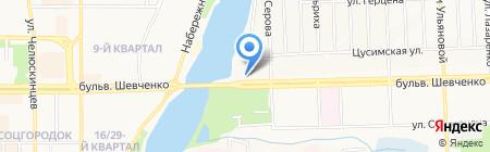 Кабомба на карте Донецка