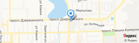 Банкомат КБ Украинский финансовый мир на карте Донецка