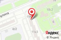 Схема проезда до компании Трон - Строй в Москве