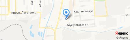 Аметист на карте Донецка