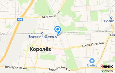 Местоположение на карте пункта техосмотра по адресу Московская обл, г Королёв, туп Фрунзенский, д 1