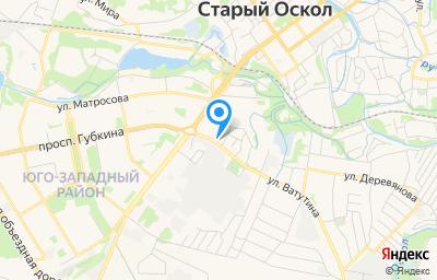 Местоположение на карте пункта техосмотра по адресу Белгородская обл, г Старый Оскол, ул Ватутина