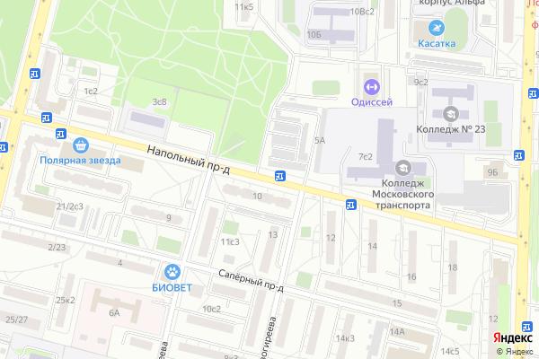 Ремонт телевизоров Напольный проезд на яндекс карте