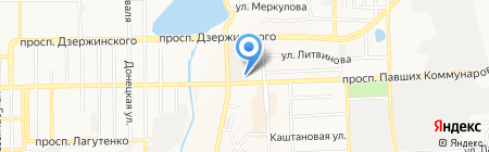 Кедрон на карте Донецка