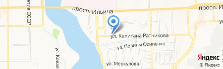 Автостоянка на ул. Капитана Ратникова на карте Донецка