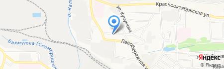 Юниттел на карте Донецка