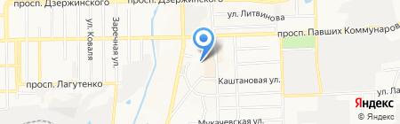 Интерстройпрогресс на карте Донецка