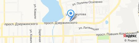 Сарепта на карте Донецка
