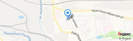 Глобус на карте Донецка