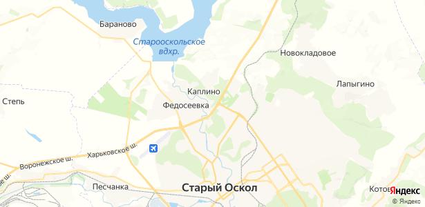 Каплино на карте