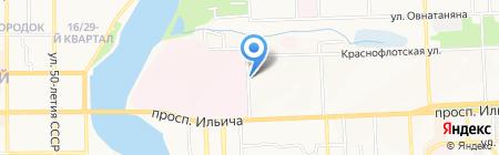 Лекарь на карте Донецка