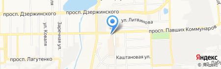 Апельсин на карте Донецка