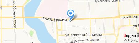 Меблик на карте Донецка