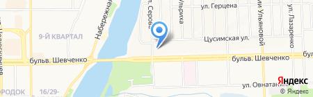 Неон-4 на карте Донецка