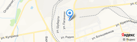 Спецмашоборудование на карте Донецка