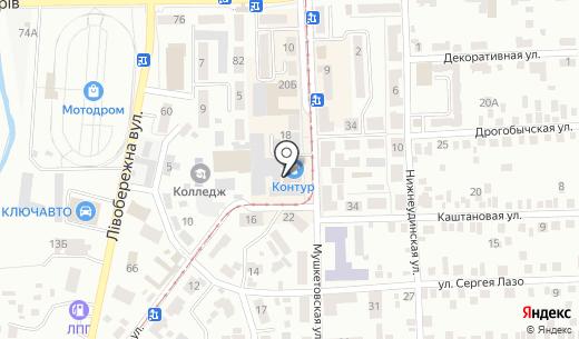 Киндер Контур. Схема проезда в Донецке