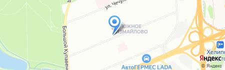 Зеленый ветер на карте Москвы