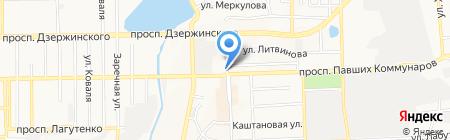 Ермолинские полуфабрикаты на карте Донецка