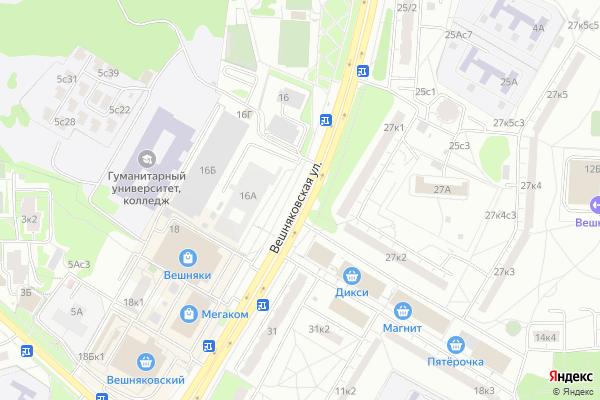 Ремонт телевизоров Улица Вешняковская на яндекс карте