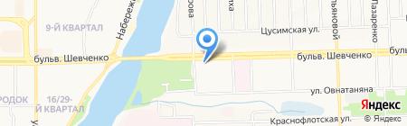 Спарк на карте Донецка