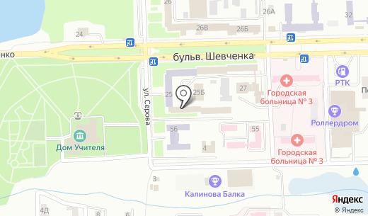 Коммунист Донбасса. Схема проезда в Донецке