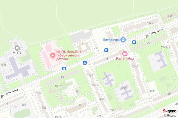 Ремонт телевизоров Улица Чечулина на яндекс карте