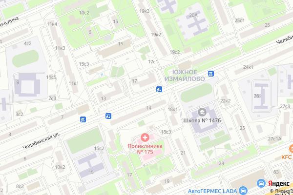 Ремонт телевизоров Улица Челябинская на яндекс карте