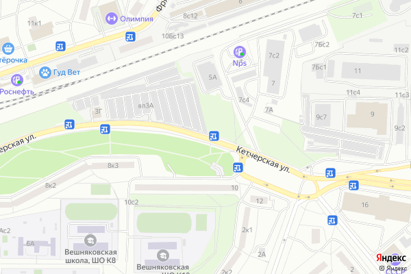 Ремонт телевизоров Улица Кетчерская на яндекс карте