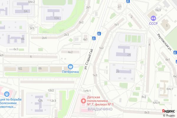 Ремонт телевизоров Улица Старый Гай на яндекс карте
