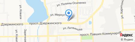 Аустер-Дон на карте Донецка