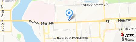 Форнетті на карте Донецка