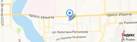 Tуристик на карте Донецка
