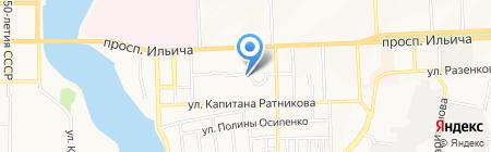Спецшина на карте Донецка