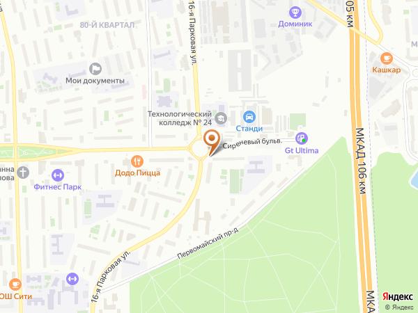 Остановка Пл. Соловецких Юнг (выс.) в Москве