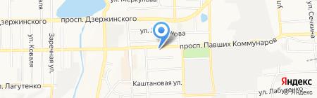 Элис на карте Донецка