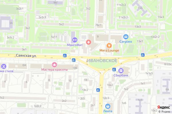 Ремонт телевизоров Улица Саянская на яндекс карте