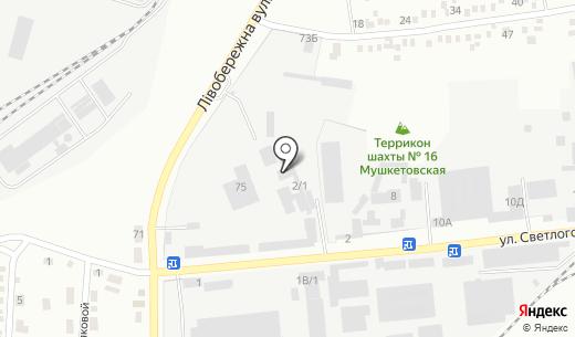 Транспортная компания. Схема проезда в Донецке