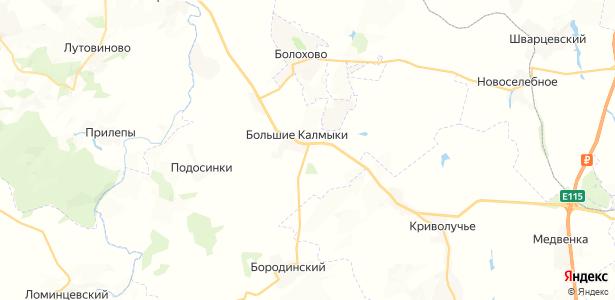 Большие Калмыки на карте