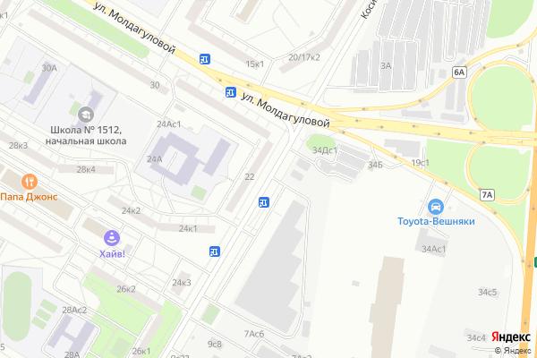 Ремонт телевизоров Улица Косинская на яндекс карте