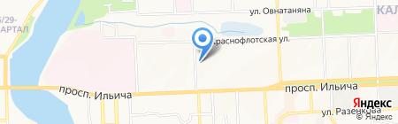 Амира на карте Донецка
